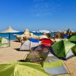 Our tents at the beach—nice, isn't it?